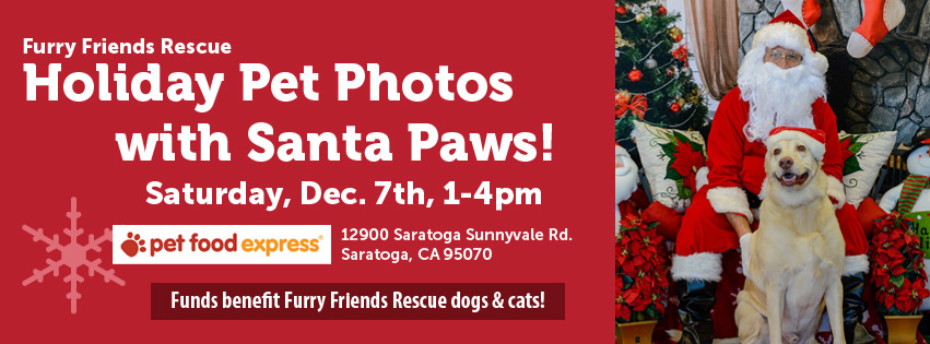 Furry Friends Rescue Pet Photo with Santa Paws & Holiday Photos! Dec. 7th