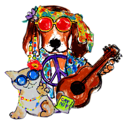 Groovy Dog & Cat by dianewatt.com