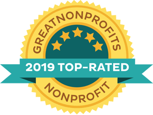Top-Rated Non-Profit badge for 2019 from GreatNonprofits!